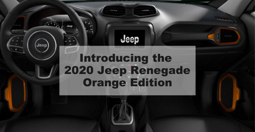 Introducing the 2020 Jeep Renegade Orange Edition