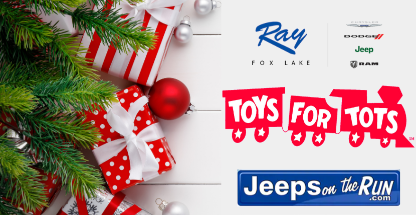 Toys for Tots Event with Jeep on the Run