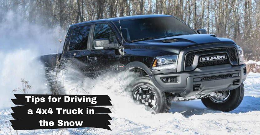 Tips for Driving a 4x4 Truck in the Snow